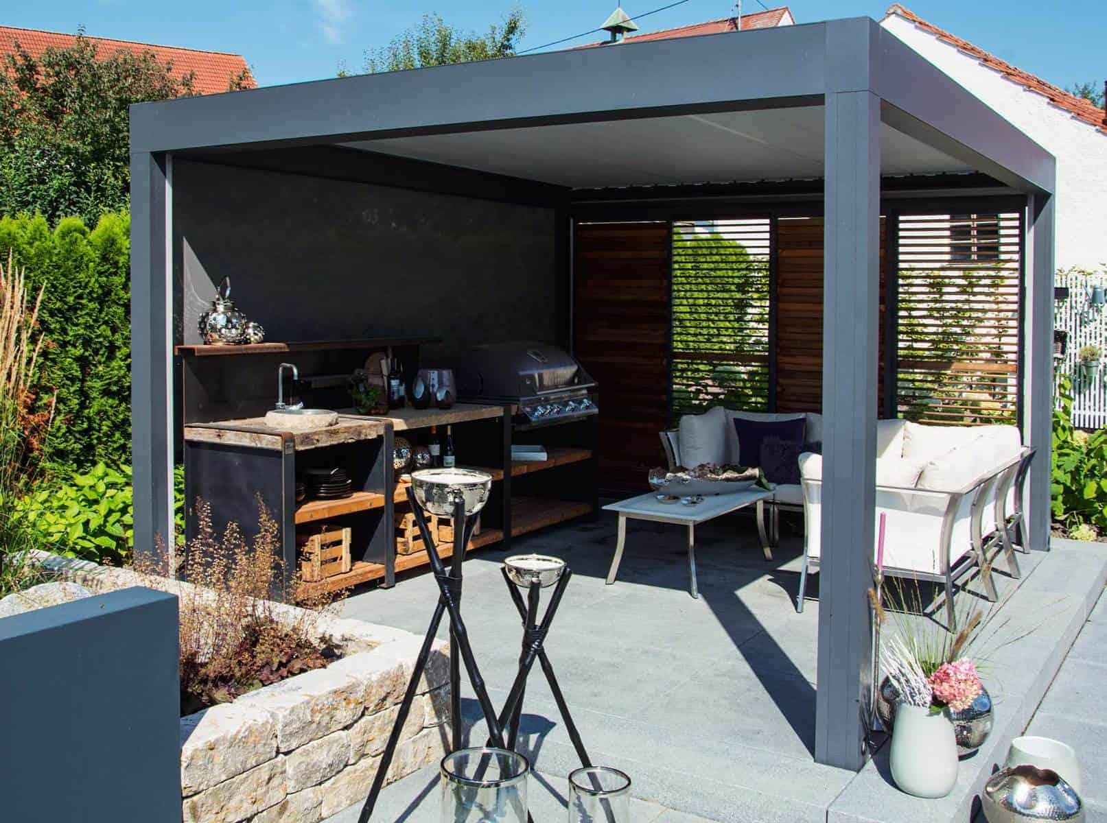 Outdoor Küche Utensilien : Wundervolle outdoor küchen von bullinger gartengestaltung