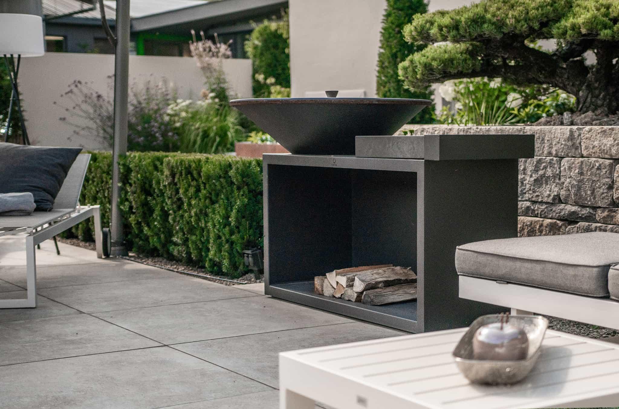 Feuerstelle Grill Im Garten Bullinger Gartengestaltung